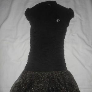 I.N. Girl Black/Gold Dress